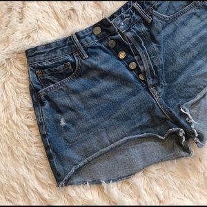GRLFRND denim shorts